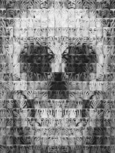 Laurence Demaison, Casse-tête,  (prise de vue et tirages : 1997, montage : 2007), 289 tirages 8 x 10 cm, Format total : 140 x 178 cm. © de l'artiste